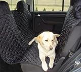 tierlando® Autoschutzdecke, Hundedecke, Autoschondecke, mit Reißverschluß teilbar, 180 x 140 cm, Schwarz - SMR-180-03