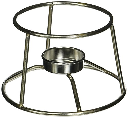 American Metalcraft CIFDR Cast Iron Fondue Pot and Stand, 4.95
