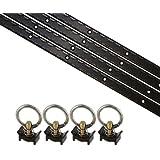 8 Piece 4' L Track Tie Down System- Black