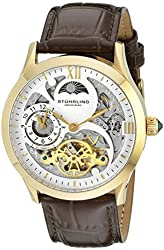 Stuhrling Original Men's 571.3335K2 Classic Winchester Tempest II Automatic Skeleton Gold Tone Watch