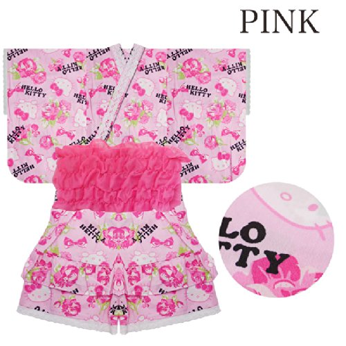 ( 2014 summer model ) Hello Kitty is silently KITTY child Jinbei s choice 2 / 6 size. '[Summer Festival and enjoying the evening cool meeting / Fireworks competitions / 90 cm/95 cm / 100 cm/110 cm / 120 cm/130 cm / Black / Pink] (90, PINK)