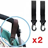 2x Pram Clips Bag Buggy Set BUGGY BAG HOOKS/Clips Fit Bugaboo, Phil+Teds,Quinny