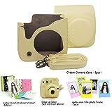 お買得!CAIUL  FUJIFILM インスタントカメラ チェキ instax mini 8専用セットシリーズ(ファッション、ベージュ速写ケース/可愛い兎型の接写レンズ/写真デコ用カラーステッカー/カラーフォトフレーム)