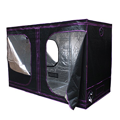 """Apollo Horticulture 120""""X60""""X80"""" Mylar Hydroponic Grow Tent For Indoor Plant Growing"""