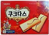 CROWN ククダス 144g (18枚入) ■韓国食品、韓国お菓子、美味しいお菓子、ソフトクッキ、ホワイトチョコ、お菓子、韓国クッキ■
