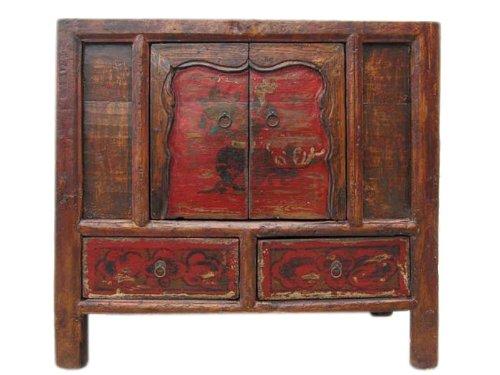 China Mongolia 1760uralte pintados Paulina–Cómoda Massive Pino