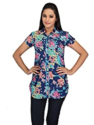 lol Multi-Coloured Color Floral Print Casual Top for women
