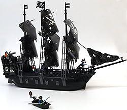 Black Pearl Piratenschiff, 75 cm lang, inkl. Piraten, Beiboot & funktionierenden Kanonen! Das 3 Master Segelschiff begeistert durch enorme Detailverliebtheit und toller Spielbarkeit. Das umfangreiche, knapp 1200 Bausteine umfassende Set, besteht ...