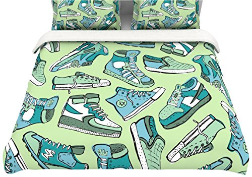 "Kess Inhouse Brienne Jepkema ""Sneaker Lover I"" Twin Cotton Duvet, 68 By 88-Inch"