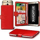 Aventus (Rot) HTC Desire 620G Dual Sim Premium-PU-Leder