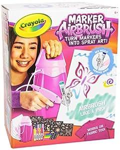 crayola marker airbrush rosa aerografo