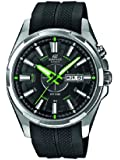 Casio  Edifice - Reloj de cuarzo para hombre, con correa de plástico, color negro