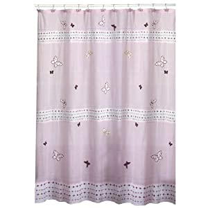 pink girls shower curtain luna allure home