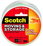 Scotch Long Lasting Moving & Storage Packaging Tape, 1.88 Inches x 54.6 Yards, 1 Roll (3650)