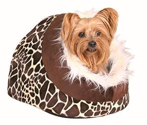 Trixie Minou Cuddly Cave, 35  26  41 cm, Giraffe Pattern