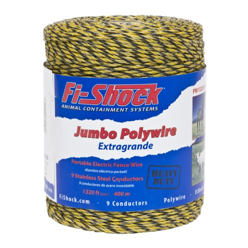 Fi-Shock PW1320Y9-FS 9-Strand Polywire, 1320-Feet (Poly Wire compare prices)