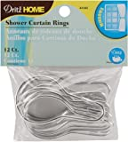 Dritz 44342 Shower Curtain Rings, 2-3/4 by 1-1/2-Inch, 12-Pack