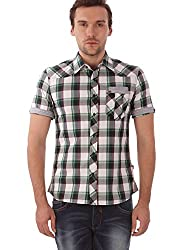 Identiti Men Casual Cotton Shirt ( Green )