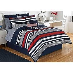 Izod Varsity Stripe Comforter Set, Queen