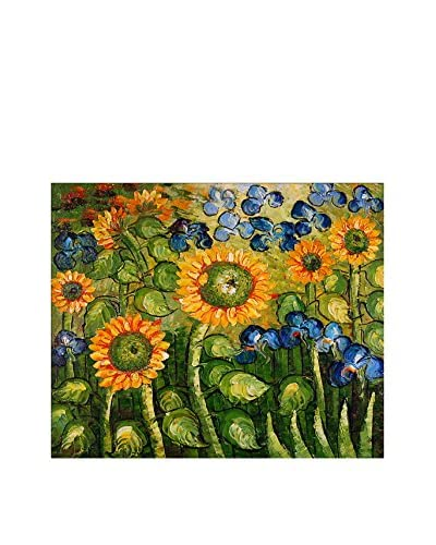 Arte Dal Mondo Pintura al Óleo sobre Linezo Van Gogh Girasoli Ed Iris