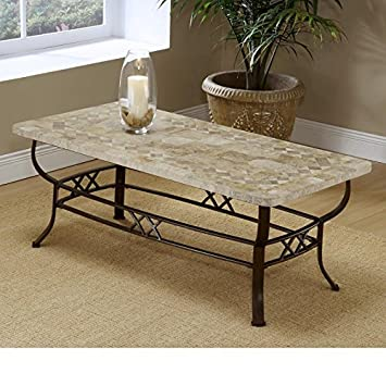 Brookside Fossil Stone Coffee Table