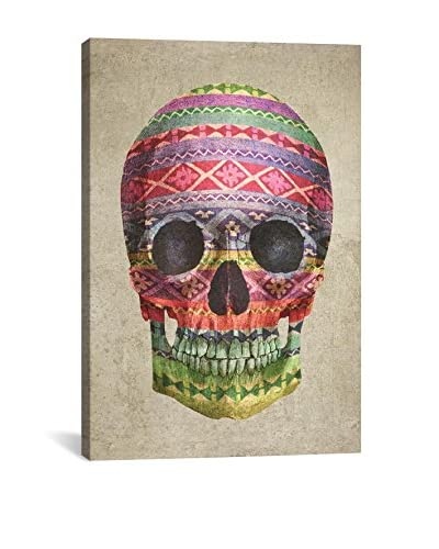 Terry Fan Navajo Skull Gallery Wrapped Canvas Print