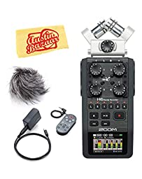 Zoom H6 Handy Recorder Bundle with APH-6 Accessory Pack and Austin Bazaar Polishing Cloth