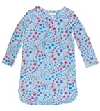 Capelli New York Baby Girls Printed Starry Swirls Micro Cozy Long Sleeve Night Shirt