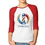 JAX Women's 3/4 Sleeve Chile Copa 2016 Climb Short T-shirt Red M