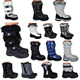 Womens Ladies Winter Faux Fur Waterproof Jogger Moon Yeti Flat Ski Snow Boots Size 3-8