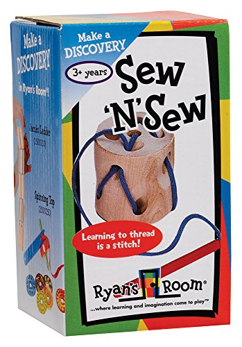 Small World Toys Ryan's Room Wooden Toys - Sew 'N' Sew Lacing Toy