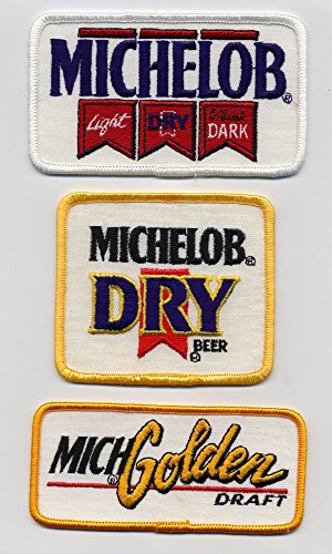 michelob-brewing-company-light-dry-classic-dark-michelob-dry-golden-draft-set-of-three-embroidered-b