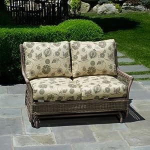 Alfresco Home Cushion For 43-7508 Skytop Deep Seating Glider Sunbrella Camille Laurel Patio by Alfresco Home LLC
