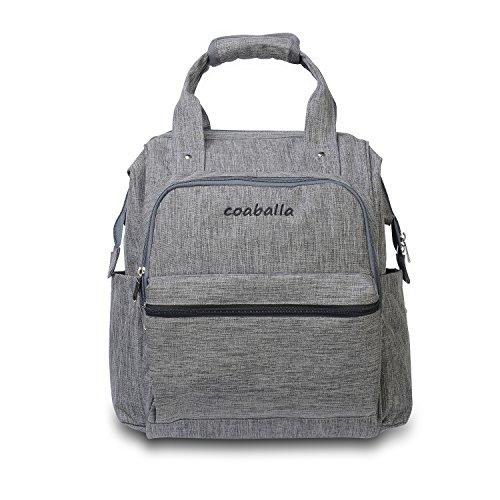 Coaballa-Multi-Function-Travel-Diaper-Bag-Backpack-Organizer-for-Men-and-Women-Extra-LargeGrey