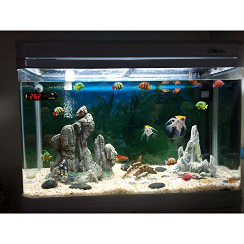 Tinksky lifelike plastic artificial fishes decorations for for Fish tank riddle