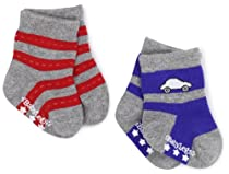 Babylegs Baby-Boys Infant Beep Beep Socks, Gray, 0-12 Months