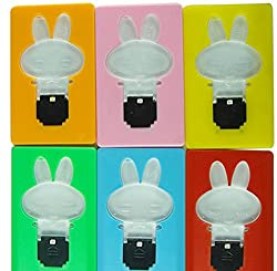 Ultra - slim LED Pocket Rabbit Mini Light Cute Wallet Credit Card Portable Card Lamp - RANDOM COLOR (SET OF TWO)