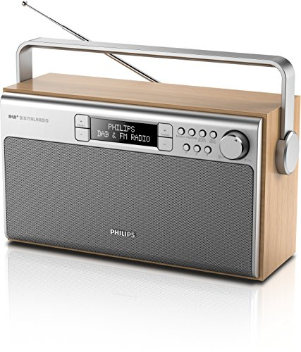 Philips AE5220/05 Portable Radio with DAB+, FM Digital Tuner, Mains & Battery Operated