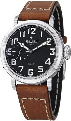 ae90b10f7c2 Zenith Men s 031930681.21C Pilot Analog Display Swiss Automatic Brown Watch