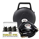 Grillbot Automatic Grill Cleaner, Black Bundle with Stainless Steel Brush