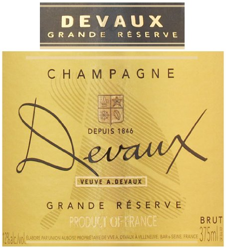 Veuve A. Devaux NV  Grand Reserve, Champagne 375 mL
