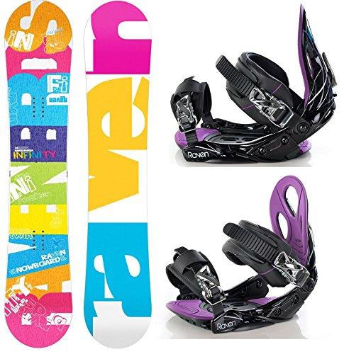 Snowboard Set: Snowboard Raven Infinity Rocker + Bindung Raven s350 S/M
