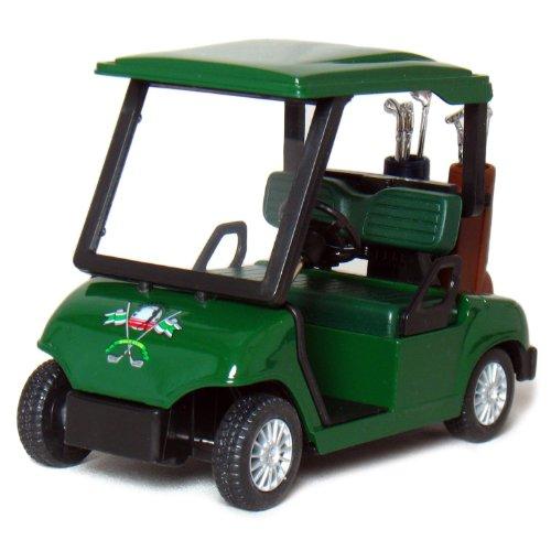 """4½"""" Die-cast Metal Golf Cart Model (Green)"""