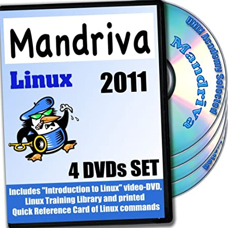 Mandriva 2011 Linux, 4-discs DVD Installation and Reference Set Ed.2012