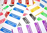 FADEBOMB-7Color-Hello Name Badge Label  7色 70枚セット【HELLO my name is】 名札ラベルシール