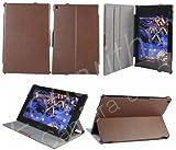 Sony Xperia Tablet Z用スタイリッシュケース(オートスリープ対応)茶ブラウン【ネットショップ ロガリズム】SYXZ004-Br
