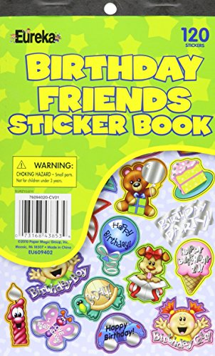 Eureka Birthday Friends Sticker Book with Foil Sticker Book - 1