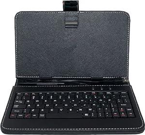 Allwinner A13 7 Inch Faux Leather Micro USB Keyboard Tablet Case (BLACK)