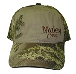 Muley Crazy- Tan & Camo - Mc Patch - Est. 1992 Embroidery HAT Hunting Cap