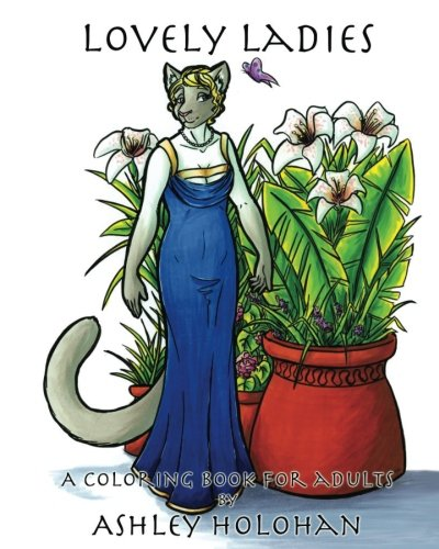 Lovely Ladies: A Coloring Book for Adults (Drawing Furries compare prices)